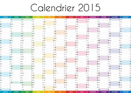 Calendrier 2015 - VERSION FRANCAISE photo