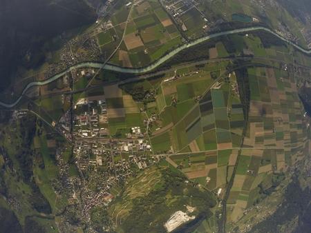 skydive: Aerial View Bex, Switzerland