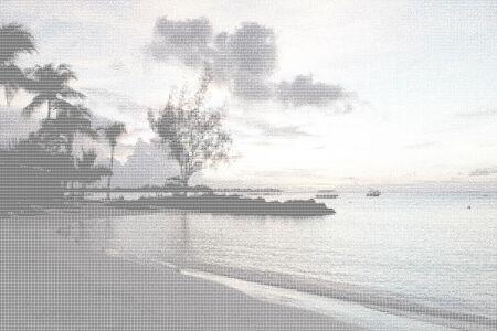 Paradise Beach - ASCII Art