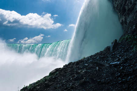 Side view of the horseshoe fall from the Canadian side