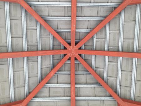 roof beam: roof Beam Stock Photo