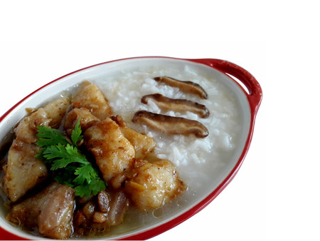 appetising: Porridge with fish Stock Photo