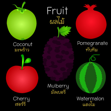 Pictures of various fruits. They can be used as a book illustration. Or learning media.