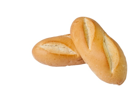 Dos baguettes insolated