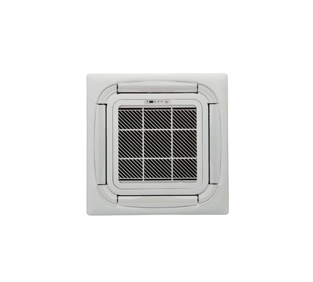 Moderne de la climatisation au plafond pour le bureau ou la maison sur fond blanc