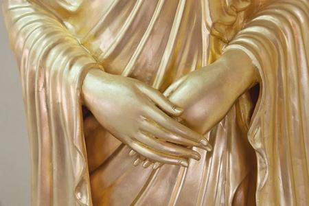 polite: Gold buddha image in polite style Stock Photo