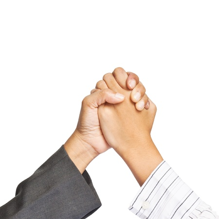 Two hands of agreement of business photo