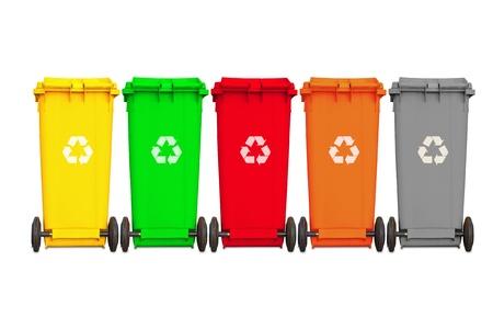 Backside большой пять мусорные баки с колесом и переработки