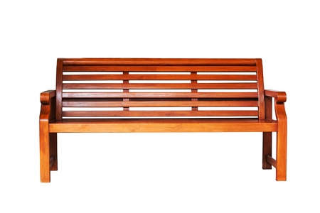 Brown wooden bench in the white background Stock Photo - 15282253