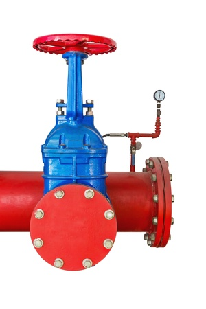 Pipe, Valve and gage  Pressure control Stock Photo - 15282264