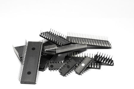 IC - Integrated Circuit in white background 版權商用圖片