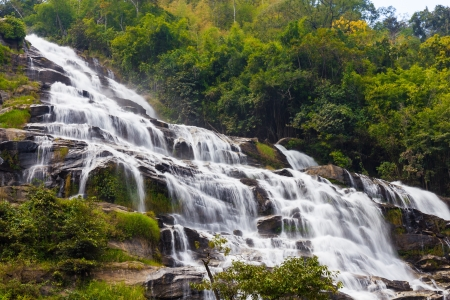 Mae Ya waterfall in Doi Inthanon national park, Chiang Mai, Thailand photo