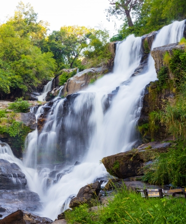 Mae Klang waterfall in doi-inthanon, Chiangmai photo