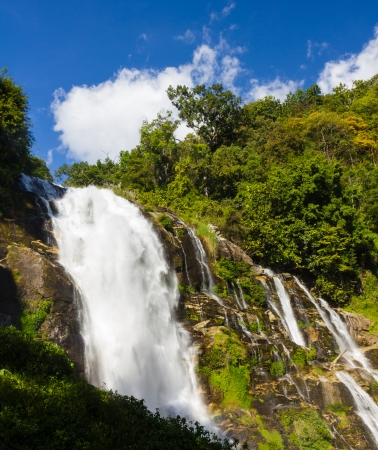 Wachirathan  waterfall in doi-inthanon, Chiangmai photo