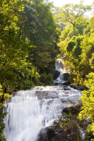 Siritarn водопад в Дои-Интханон, Чиангмае Фото со стока