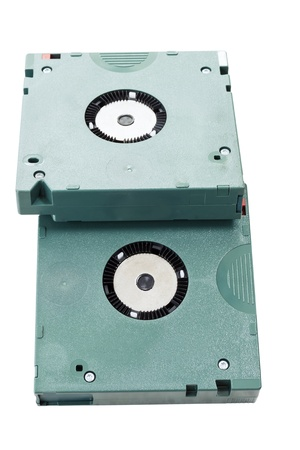 Cartridge tapes for data backup in white background photo