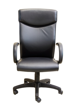 Black executive office chair in white background photo