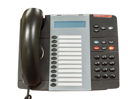 Black modern telephone photo