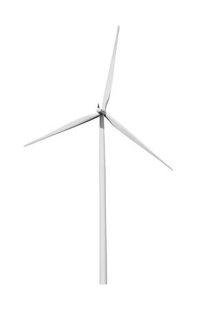 Wind turbine isolated on white