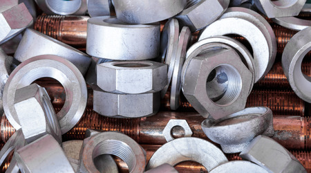 nuts and bolts: Nuts  bolts and copper bar