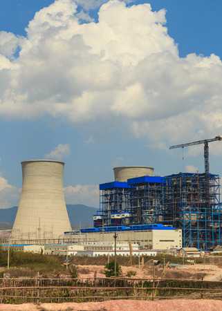 lignite: Under construction of Lignite power plant and cooler