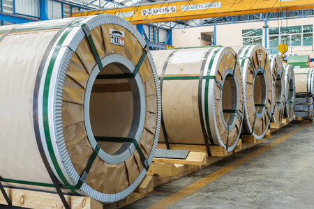 Cold rolled steel coils in packge before feeding to prouction line