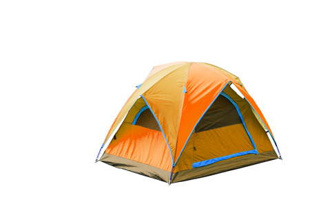 Isolated orange dome tent