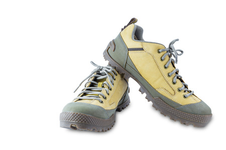safety shoes: Isolated Engineering safety shoes on white with clipping path