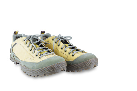 calzado de seguridad: Zapatos de seguridad Ingeniería aislado en blanco con trazado de recorte