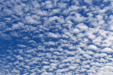 altocumulus: Altocumulus white clouds in sunny day Stock Photo