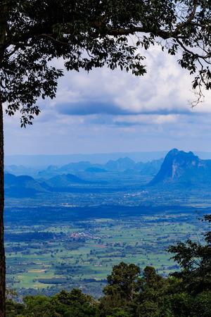 kradueng: View of mountains from Phu Kradueng National Park, Loei, Thailand Stock Photo