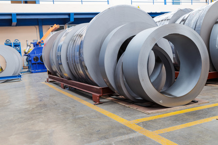 metallurgic: Rolls of metal sheet  for production in factory