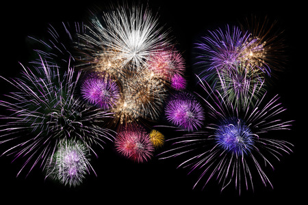 colorfuls: Colorfuls fireworks on black background