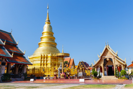 hariphunchai: Pagoda in Wat Phra That Hariphunchai at Lamphun north of Thailand  Famous Historical place