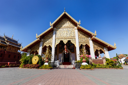 ordination: Ordination Hall in Wat Phra That Hariphunchai at Lamphun north of Thailand  Famous Historical place for travel Stock Photo