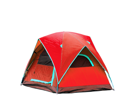 tent: Isolated dome tents with clipping path