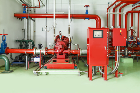 Water sprinkler and fire alarm fighting system