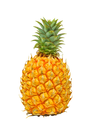 Isolated pineapple on white with clipping path