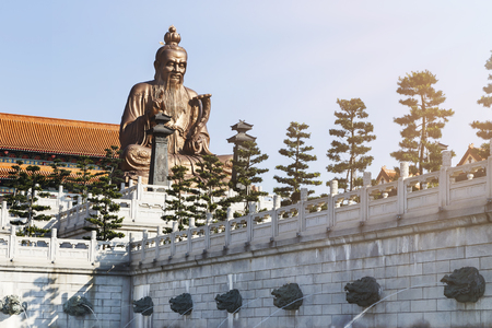 Laozi statue in yuanxuan taoist temple guangzhou, China Stock Photo