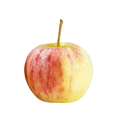 Isolated red fresh apple on white