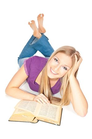 Woman reading a book Stock Photo - 6682625