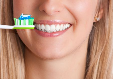 Woman with toothbrush, healthy teeth Stock Photo - 6666760