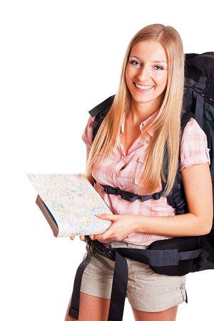 tour guide: Mochileros de mujer