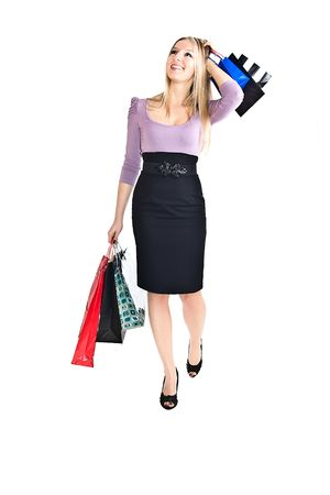 Woman with shopping bags Stock Photo - 6719881