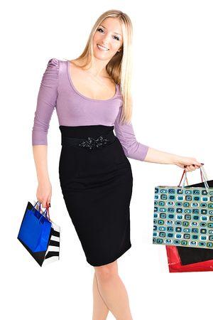 Woman with shopping bags Stock Photo - 6720059