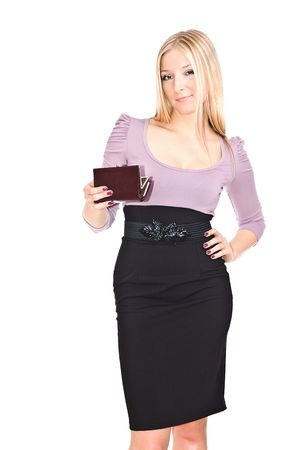 Woman with purse Stock Photo - 6719758