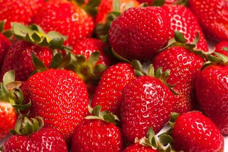 Fresh strawberries photo