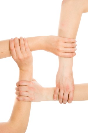 Interlocking hands photo