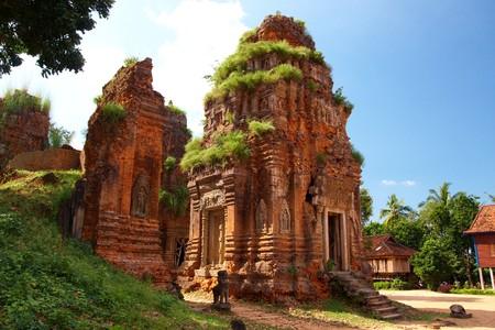 angkor wat: Angkor Temple Rolous Group Stock Photo