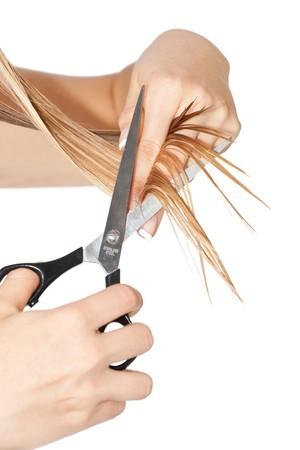 Frau schneiden Haar